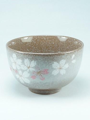 Brown tea cup with flowers Heian Sakura