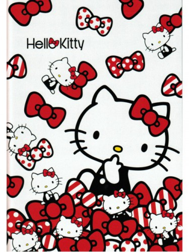 Cahier noeud papillon Hello Kitty