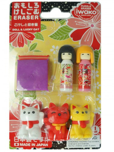 Gomme Kokeshi & Chat