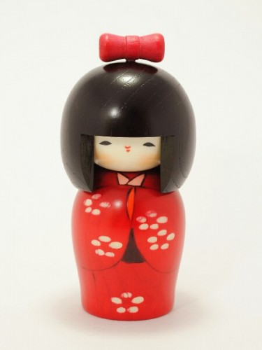Kokeshi Red Tsubomi