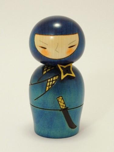 Kokeshi Ninja Bleu