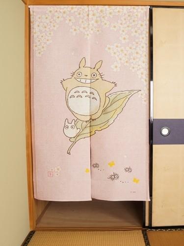 Pink Noren Totoro Chibi