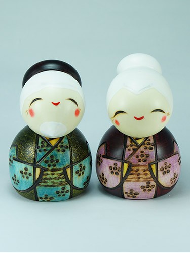 Kokeshi Couple Tomoshiraga