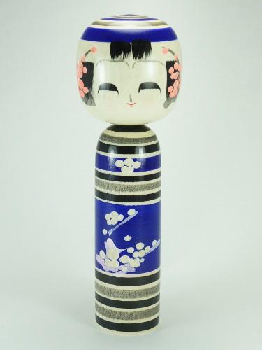 Ao Ume Kokeshi Bleue