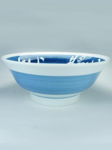 Bol ramen bleu kanji