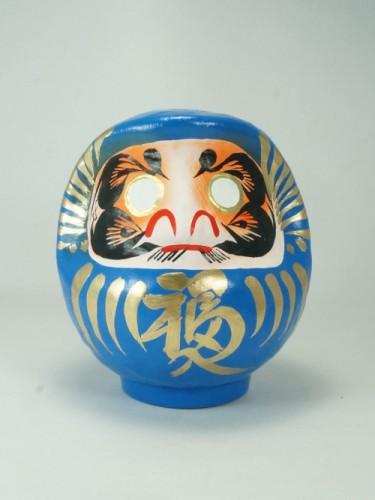 Daruma bleu 12cm