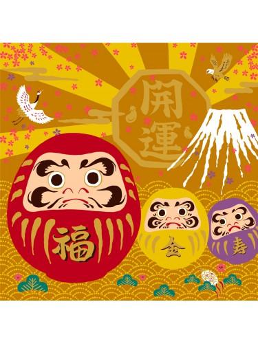 Daruma Mount Fuji Furoshiki