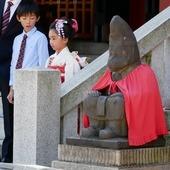 🇬🇧 A Sunny day at the shrine 👘 🇫🇷 Une journée ensoleillée au sanctuaire 🎎 . . #Japan #Japon #Kimono #Japanese #Culture #shrine